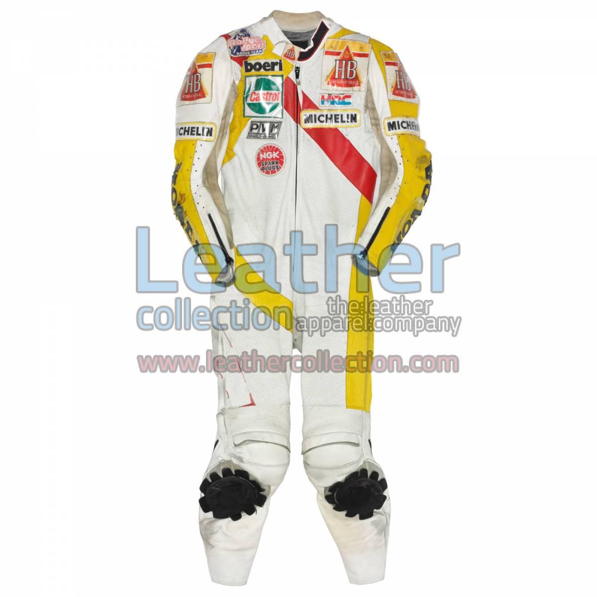 Helmut Bradl HB Honda GP 1989 Motorcycle Leathers
