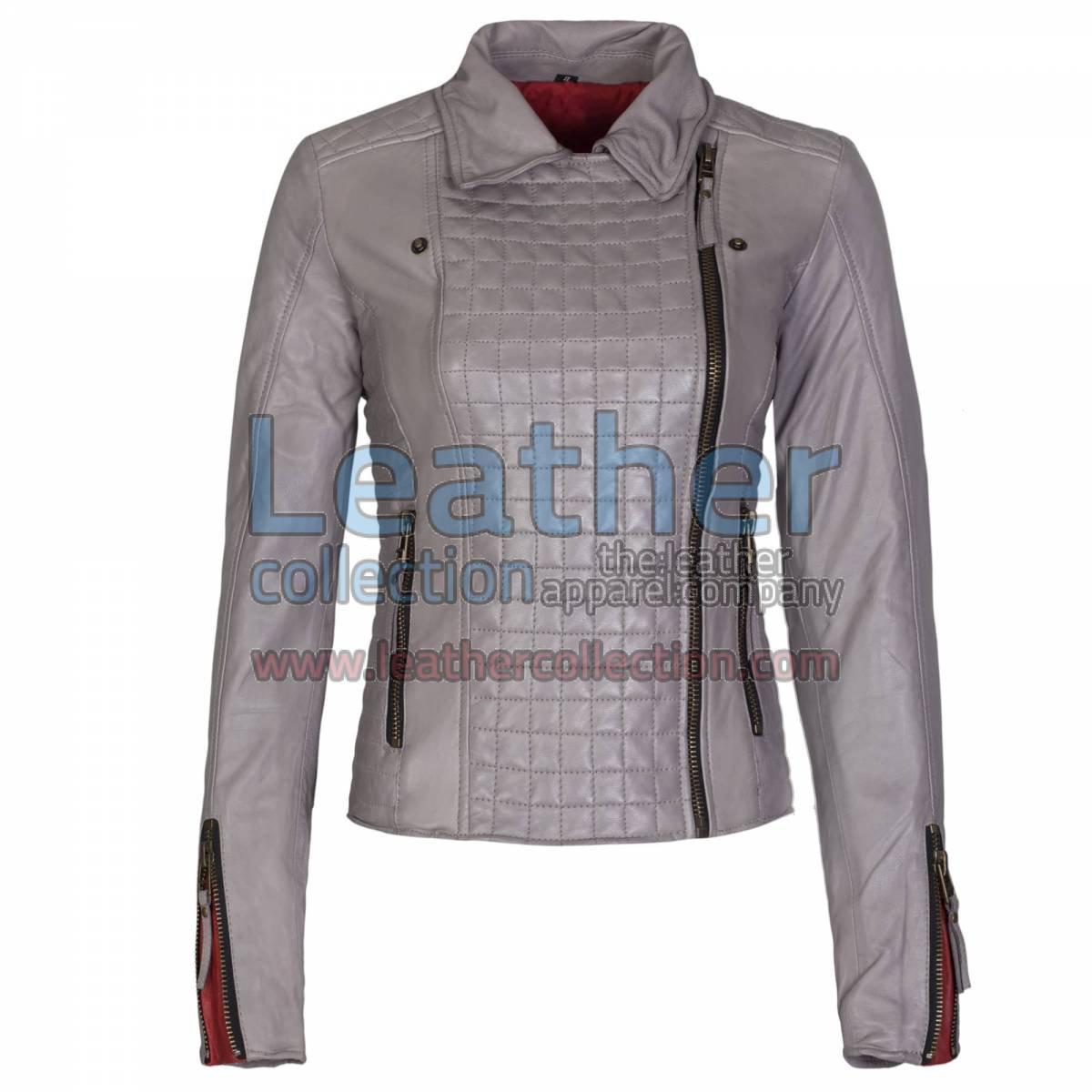 Heritage Ladies Fashion Leather Jacket Grey