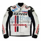 Honda Repsol White Race Leather Jacket