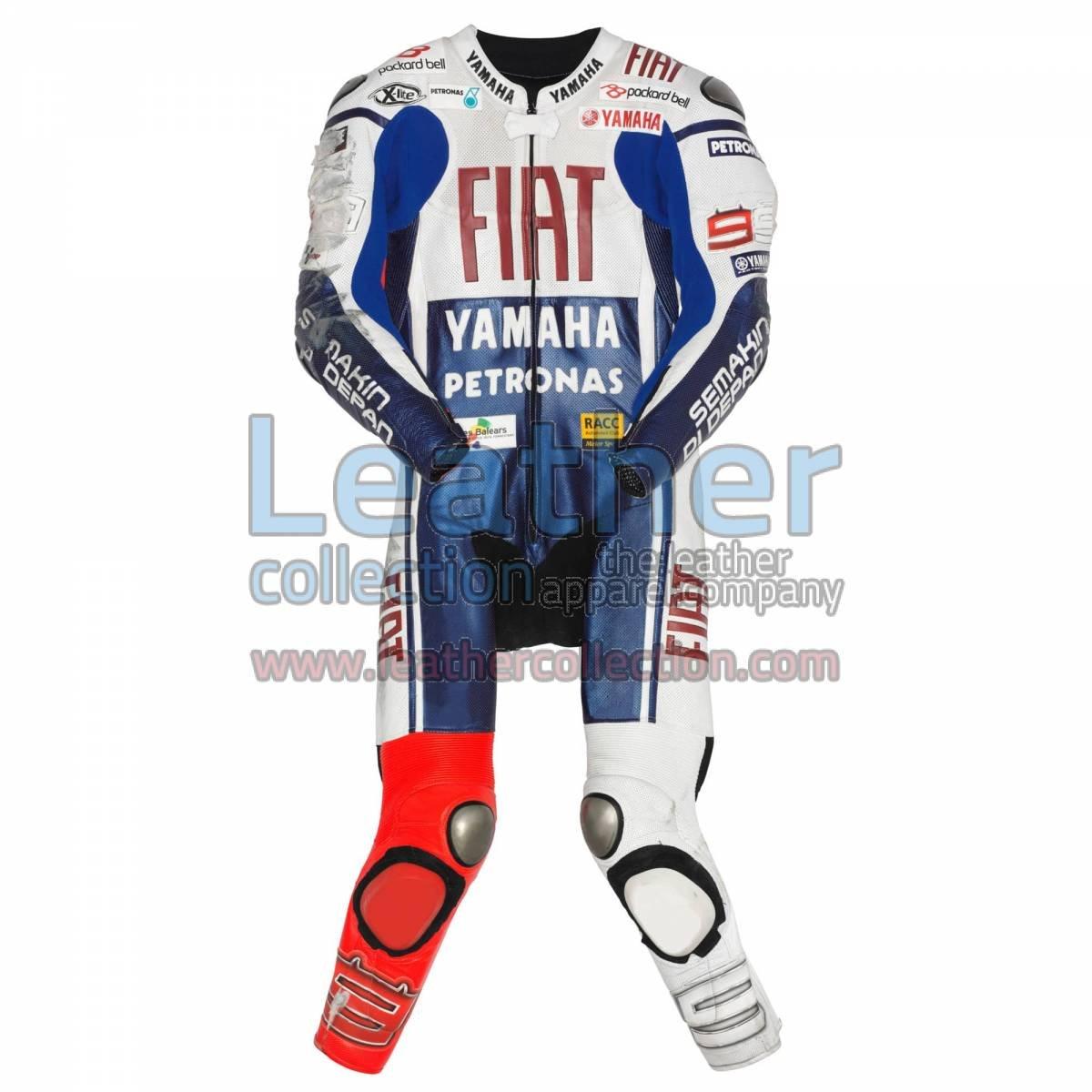 Jorge Lorenzo Yamaha Fiat MotoGP 2010 Leathers