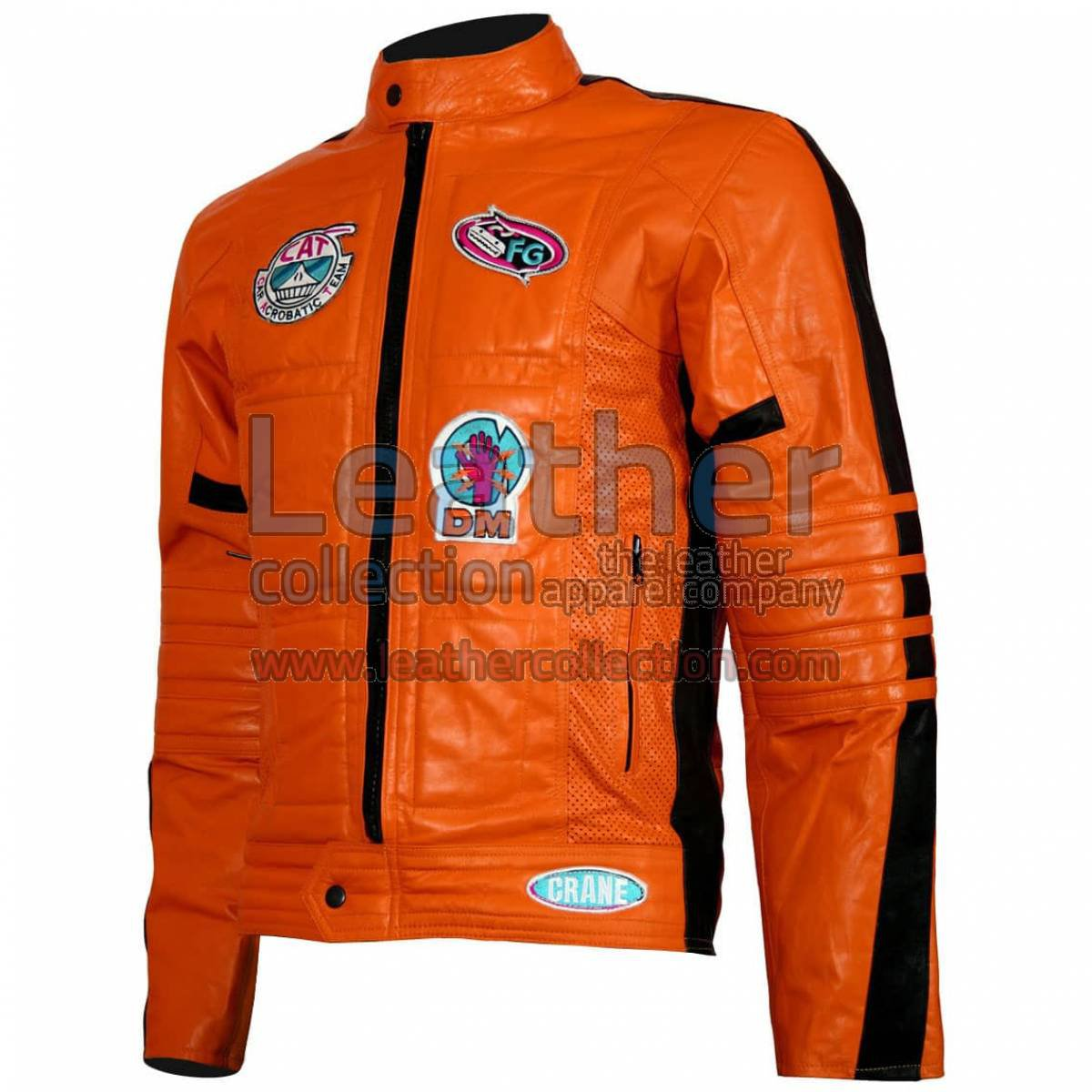 Kill Bill Movie Womens Orange Leather Jacket