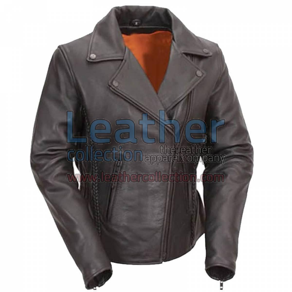 Ladies Biker Hourglass Leather Jacket