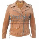 Ladies Brown Motorcycle Jacket