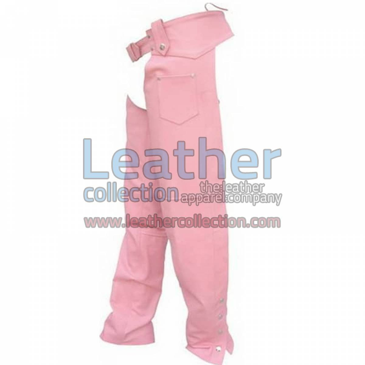Ladies Pink Leather Chaps