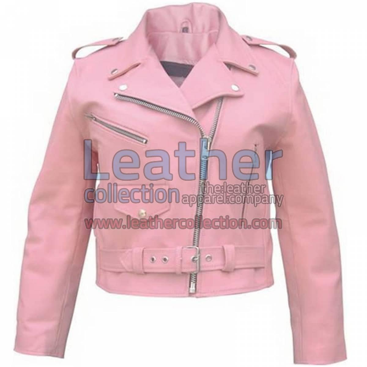 Ladies Pink Motorcycle Jacket