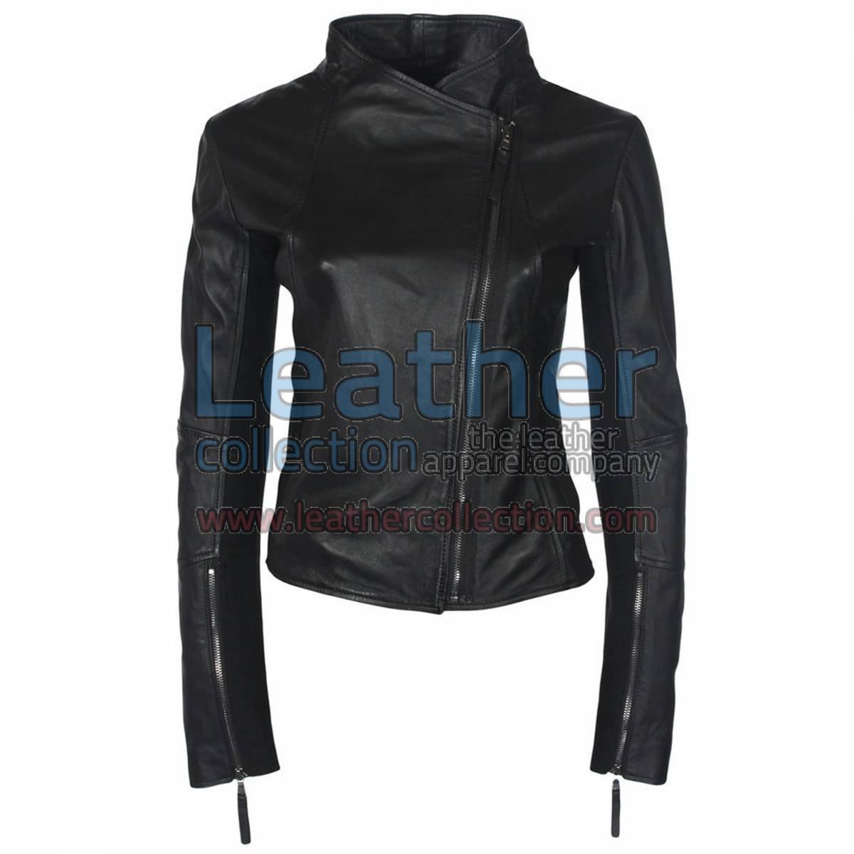 Ladies Sovereign Leather Black Jacket