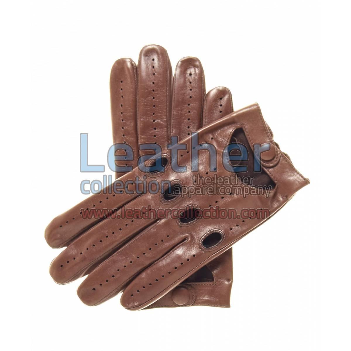 Lambskin Driving Gloves Brown