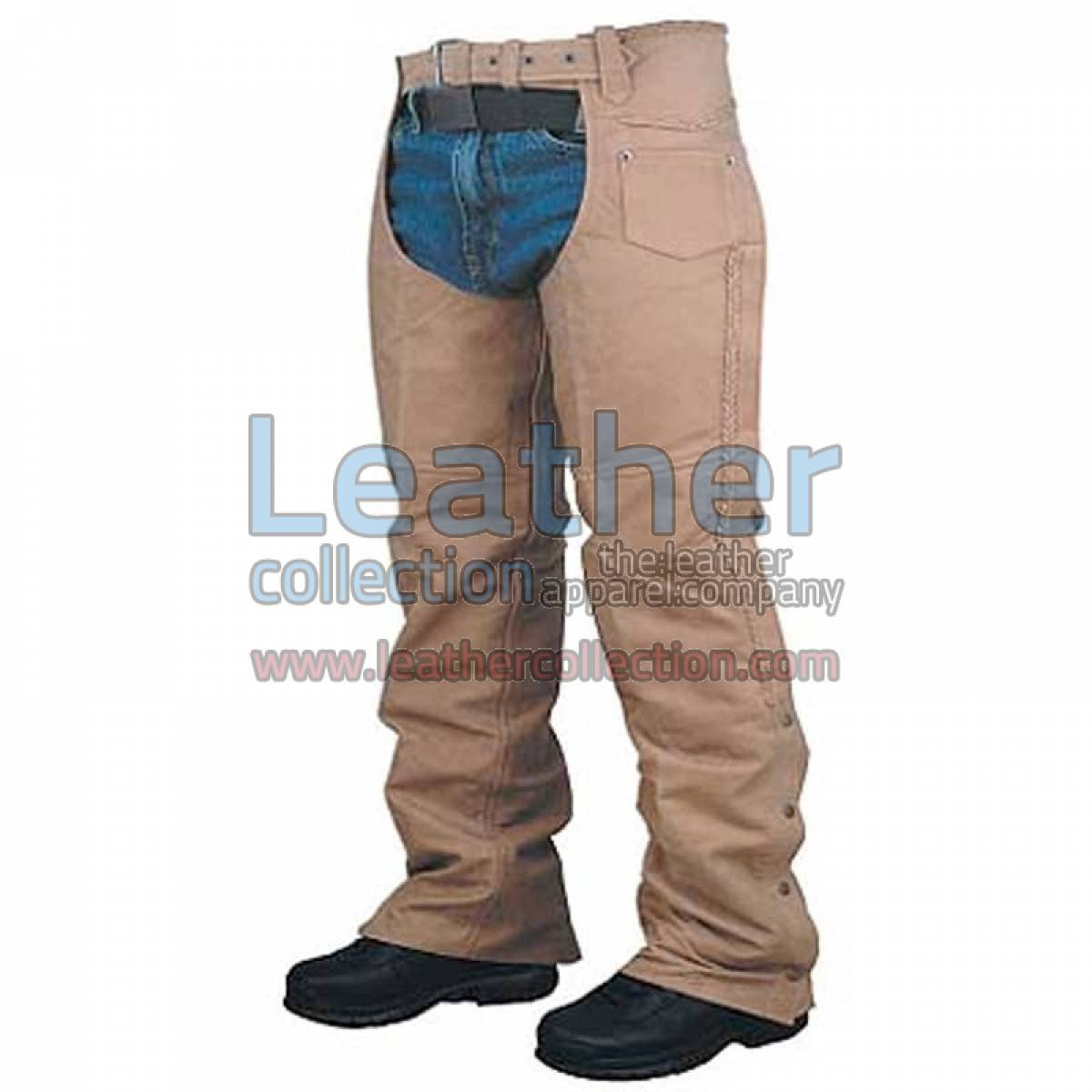 Leather Braided Chaps For Men