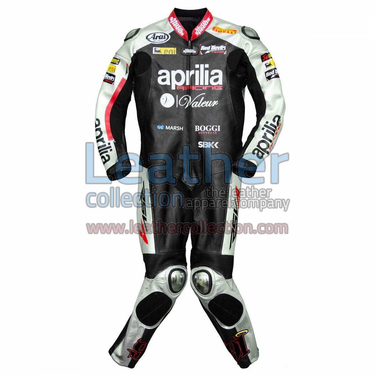 Leon Haslam Aprilia 2015 WSBK Racing Leathers