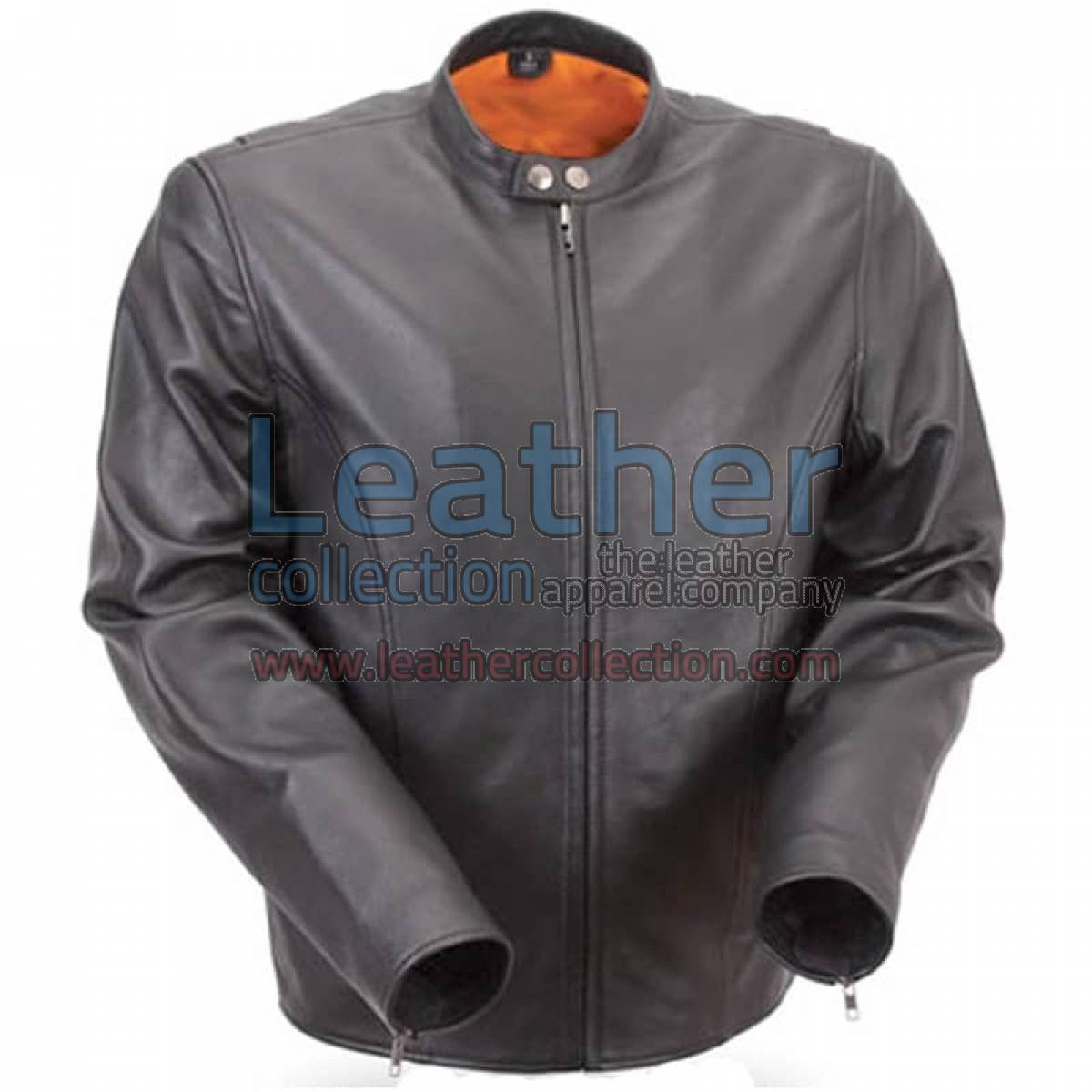 Lightweight Summer Leather Motorcycle Jacket