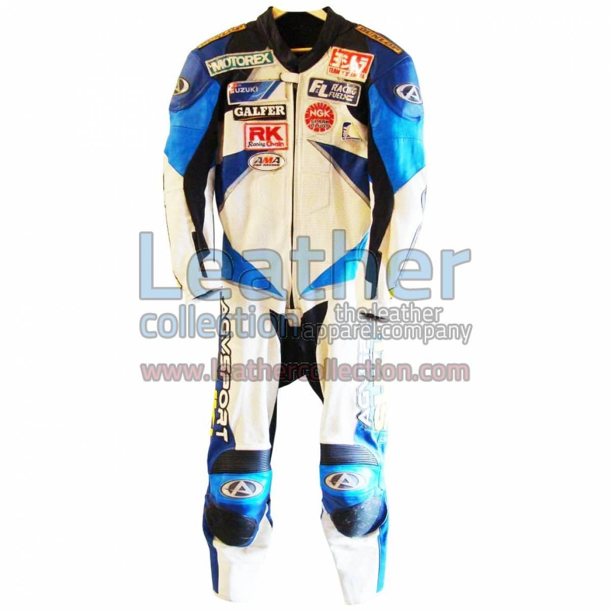 Mat Mladin Suzuki Motorcycle AMA 2002 Leathers