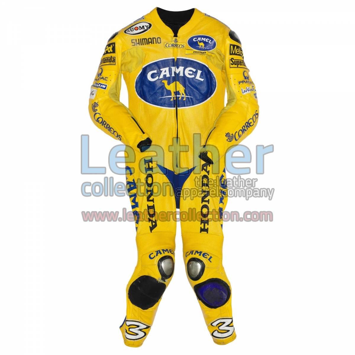 Max Biaggi Camel Honda MotoGP 2004 Leathers