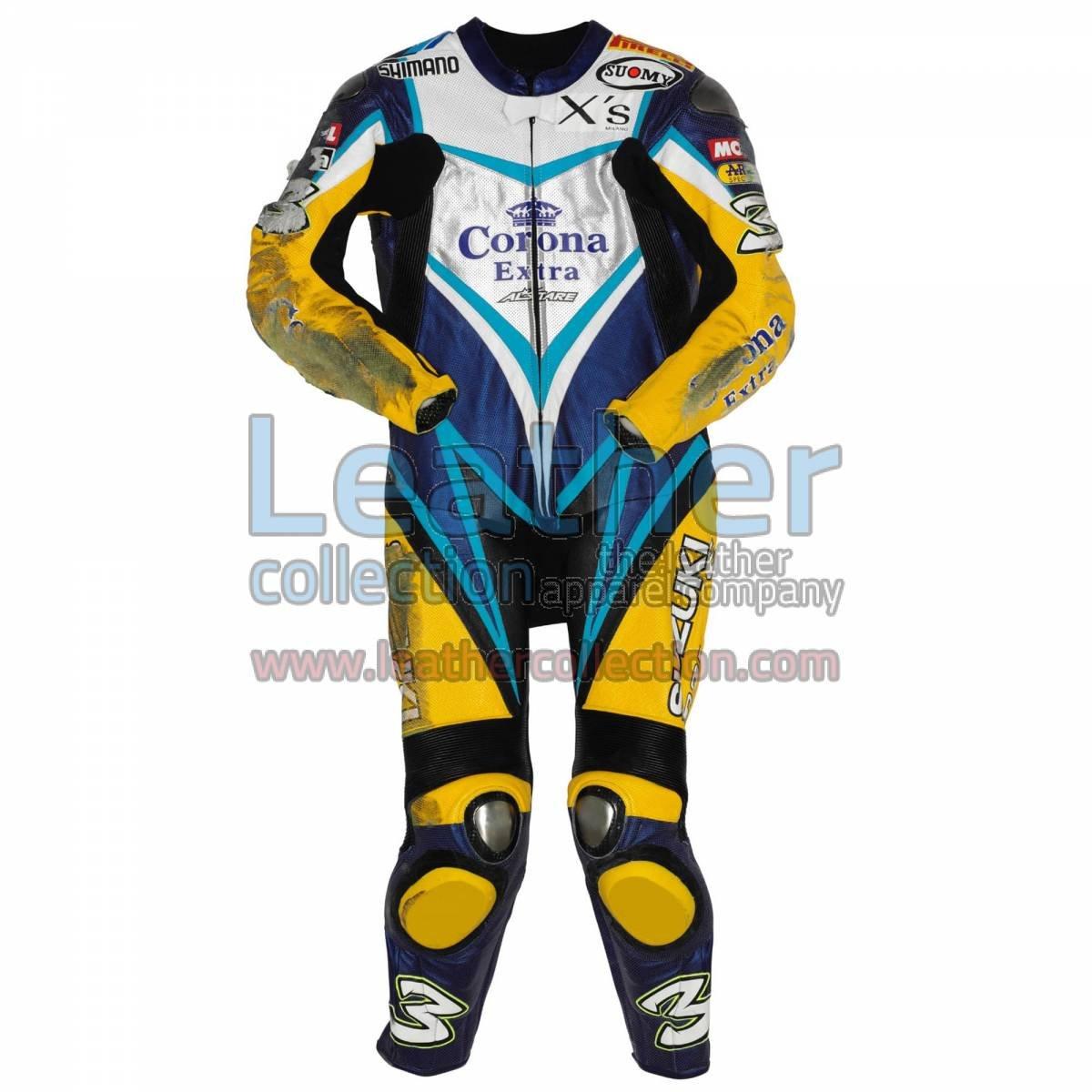 Max Biaggi Suzuki WSBK 2007 Leathers