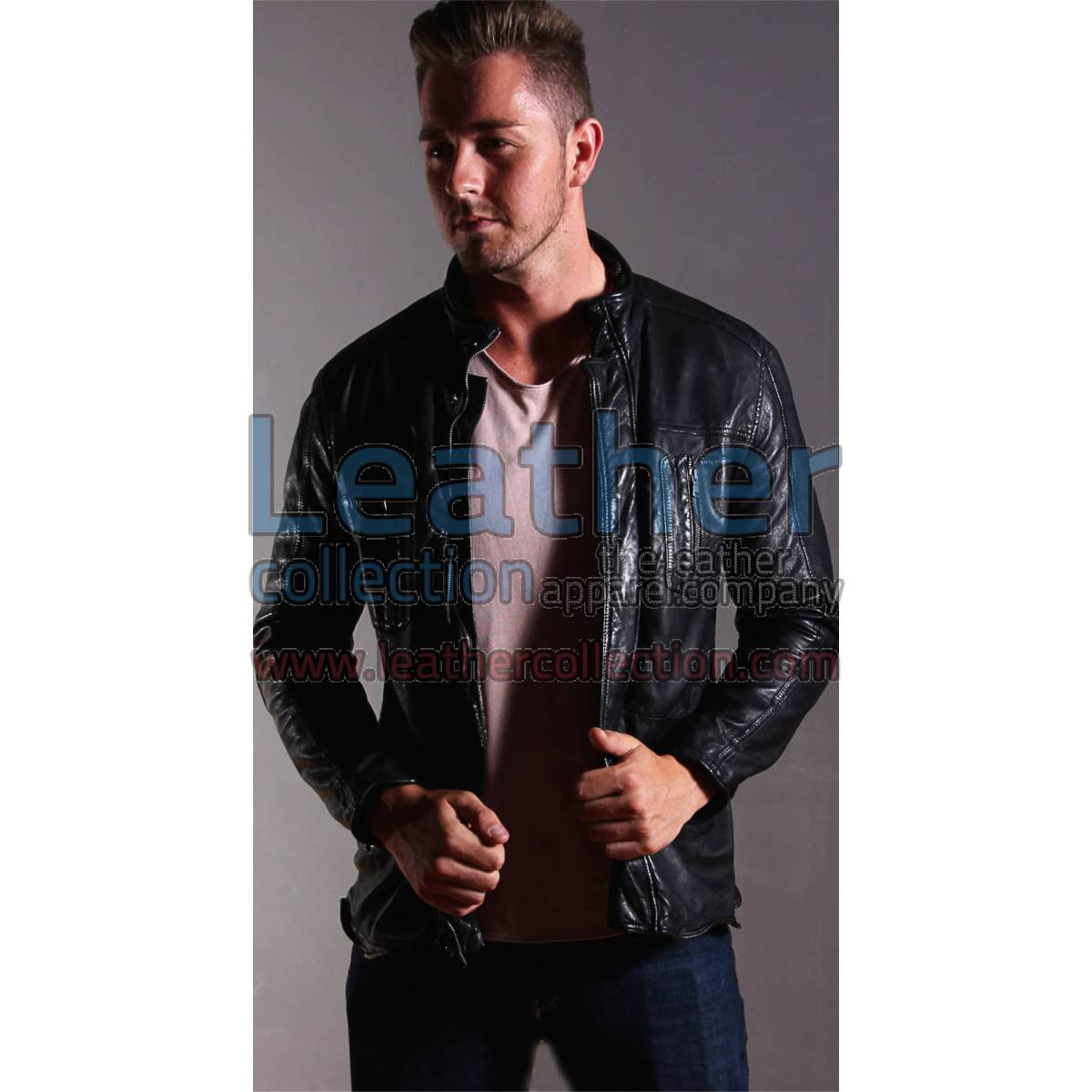 Men Fashion Ice Leather jacket