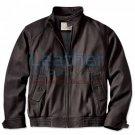 Men's Leather Bomber Jacket