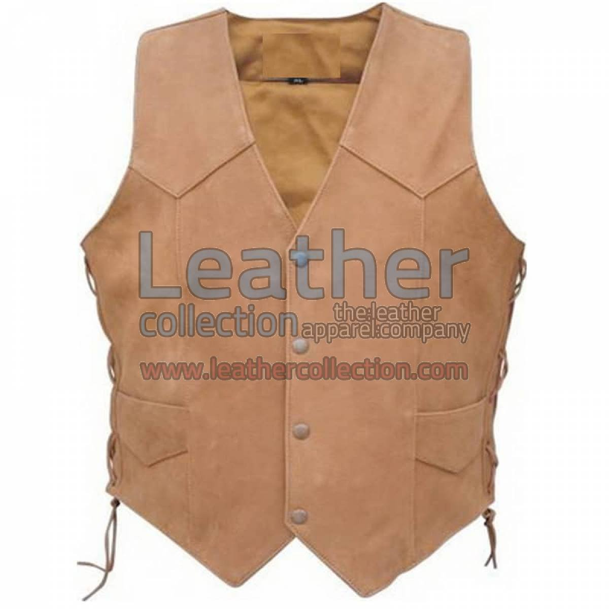 Men's Side Lace Gun Pocket Vest