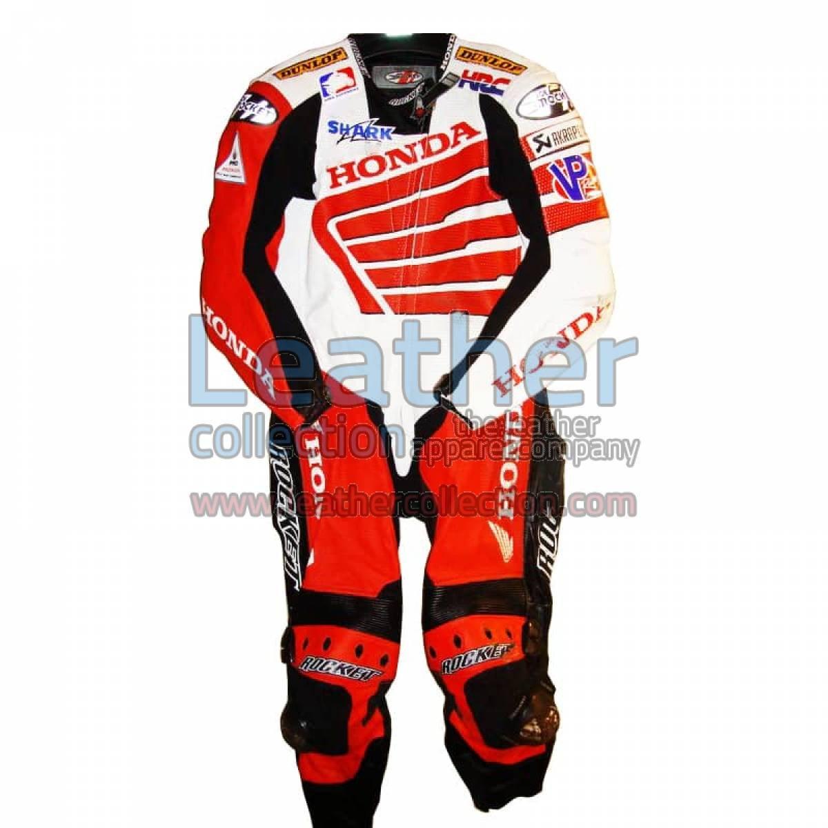 Miguel Duhamel Honda AMA 2008 Motorcycle Leathers