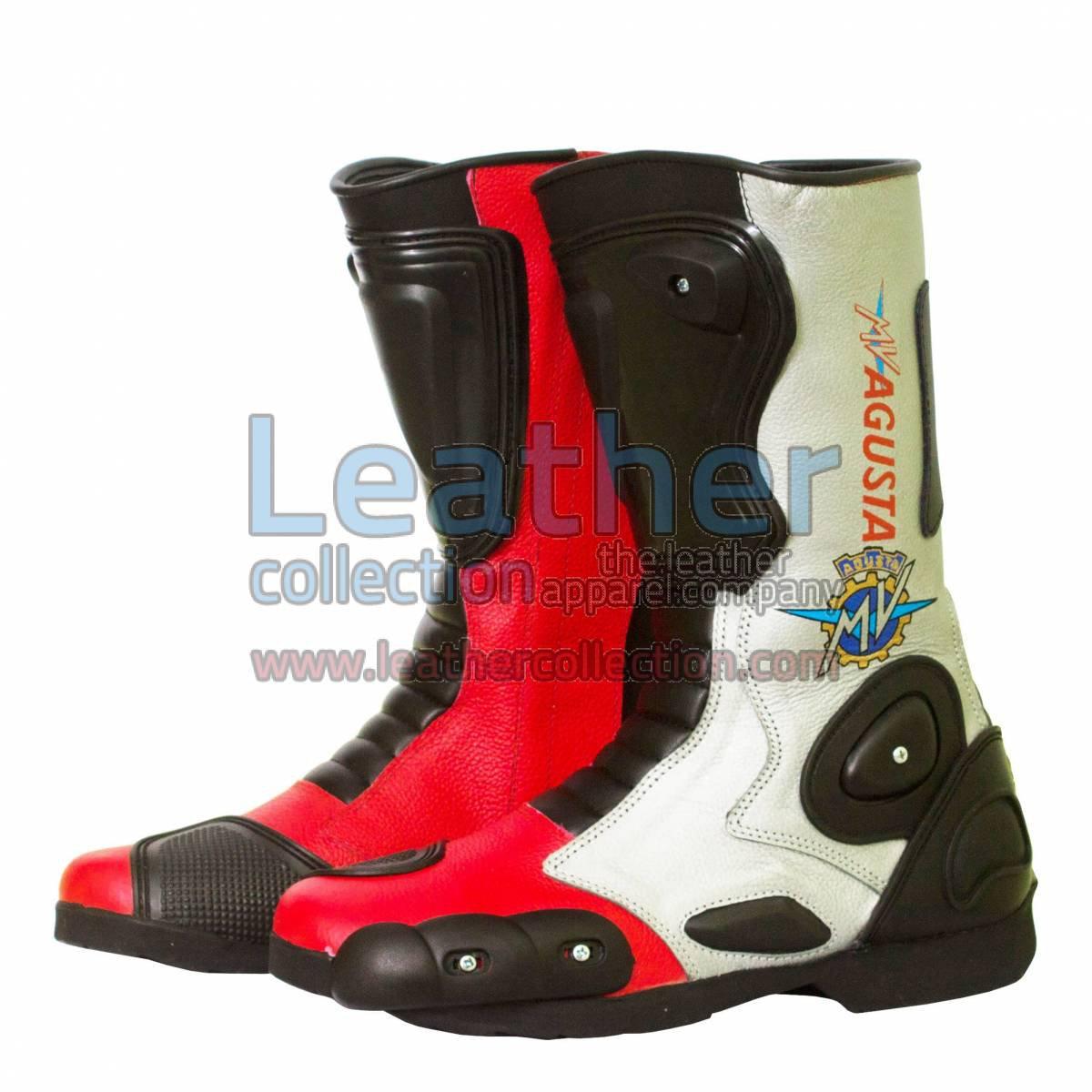 MV Agusta Leather Biker Boots