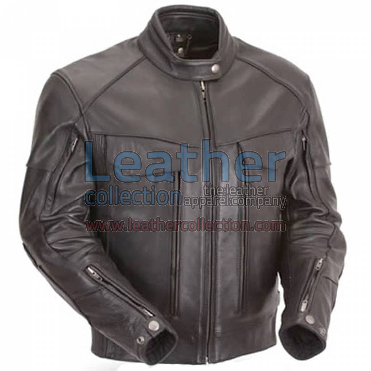 Naked Leather Riding Jacket with Gun Pockets & Side Stretch Panels
