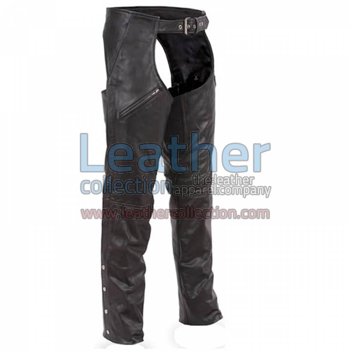 Premium Leather Biker Chaps