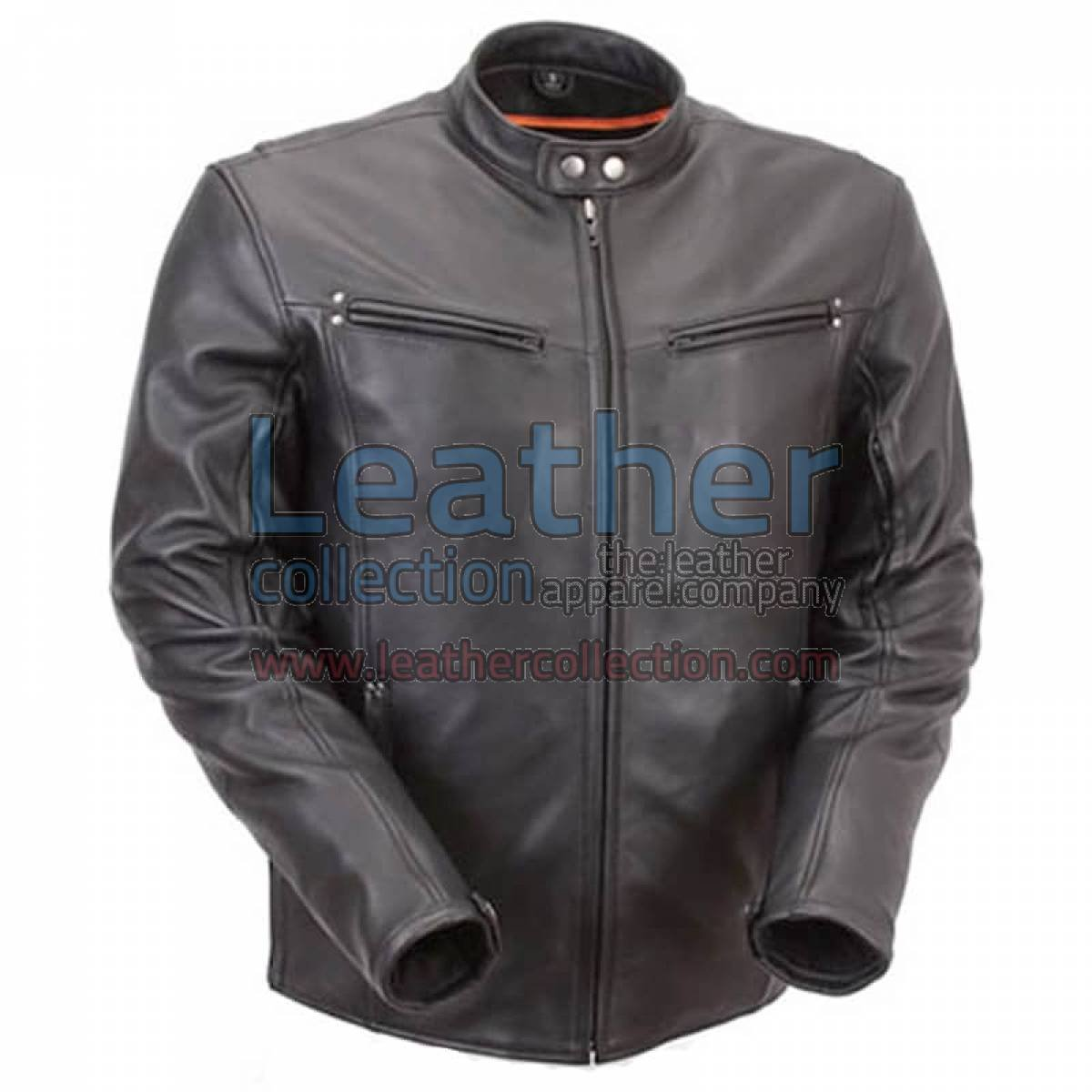 Premium Leather Rider Jacket with Multiple Vents