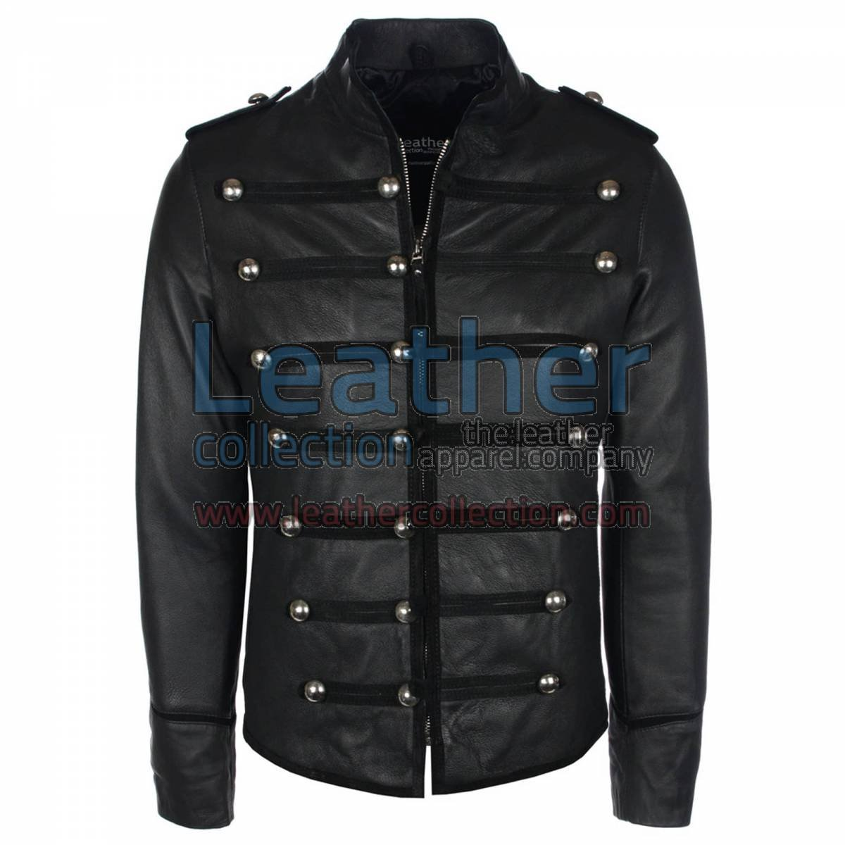 Prince Military Biker Leather Jacket