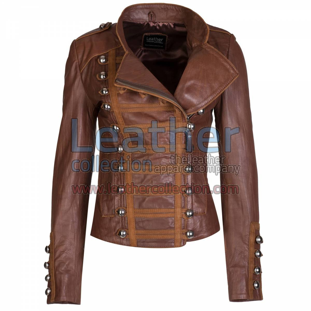 Princess Antique Brown Leather Jacket