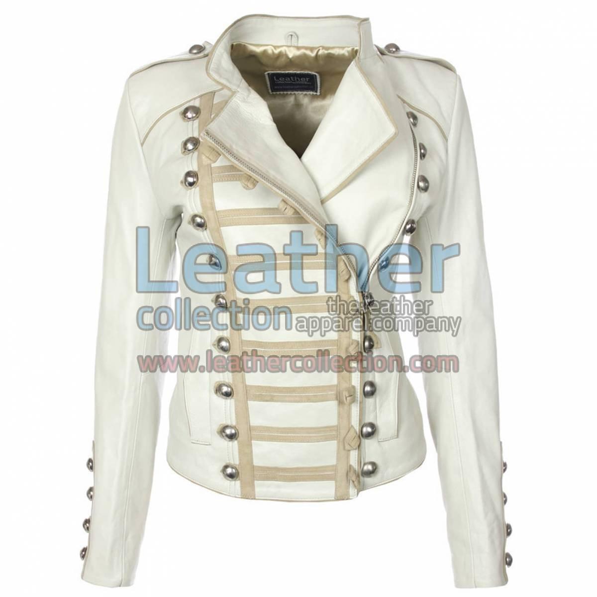 Princess Leather Jacket White