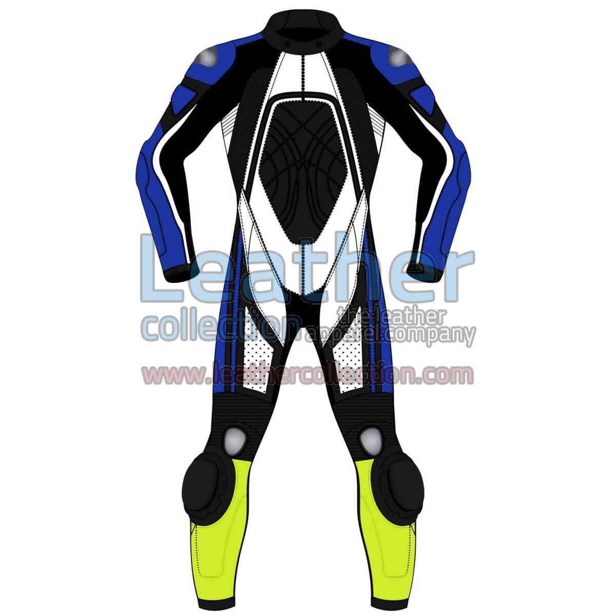 Quad Color One-Piece Motorbike Leather Suit For Men
