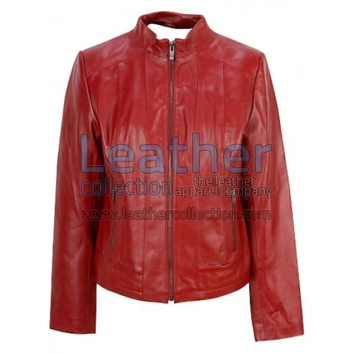 Red Fashion Jacket Of Leather