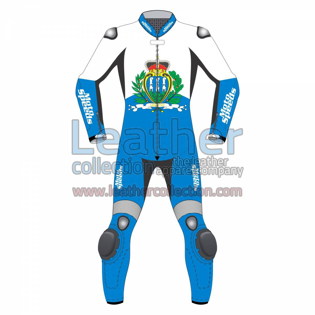 San Marino Flag Motorcycle Leathers