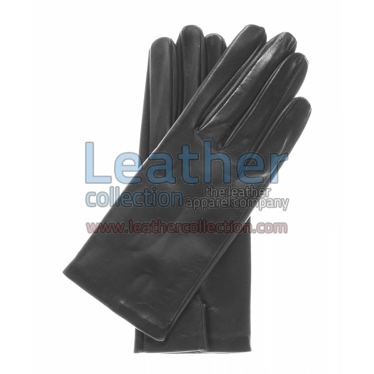 Silk Lined Leather Fashion Gloves