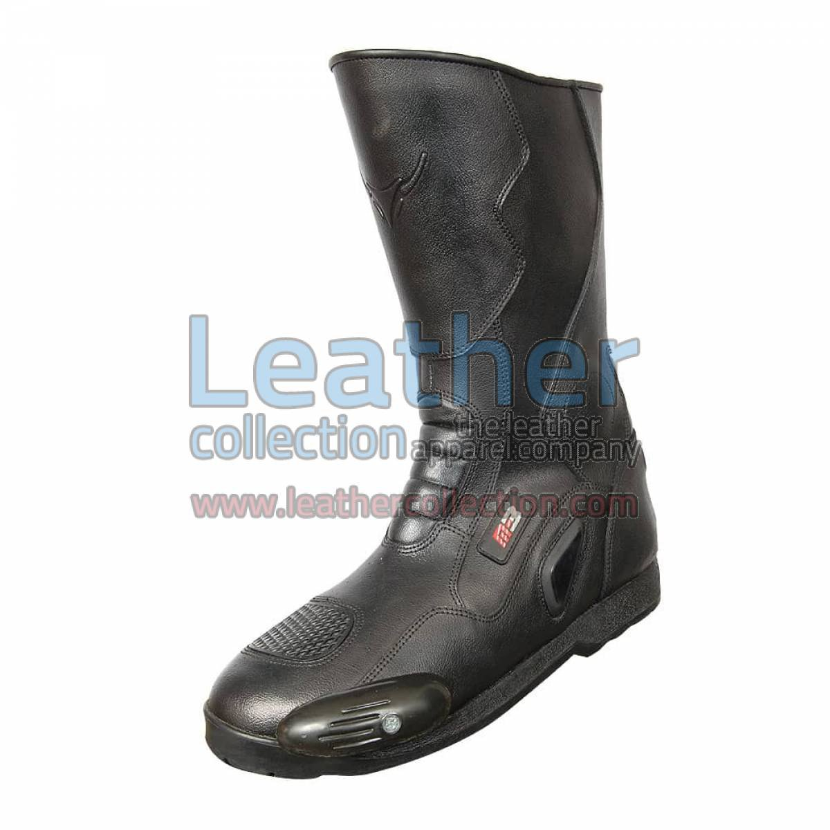 Snake Leather Moto Boots