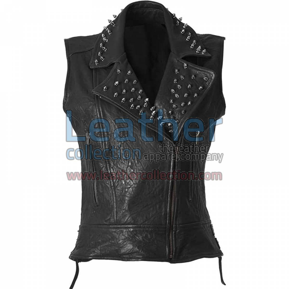 Spiked Fashion Leather Vest