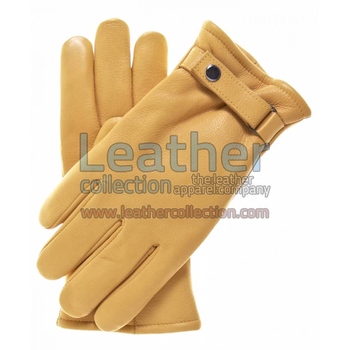 Tan Tough Leather Gloves With Thinsulate Lining