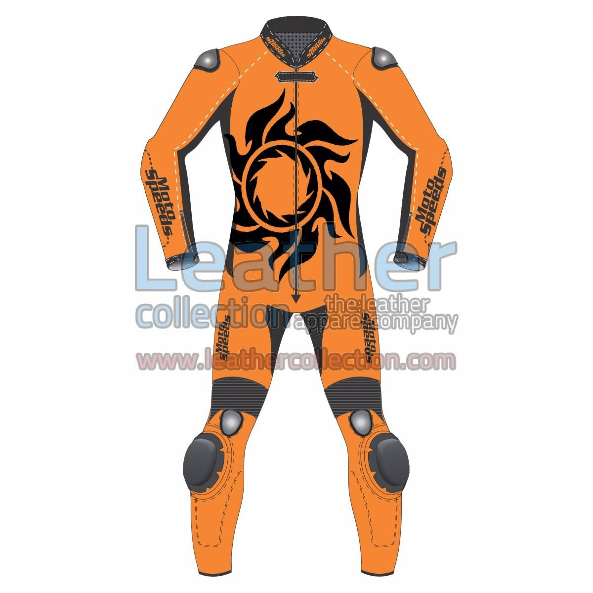 Tattoo Leather Motorcycle Suit