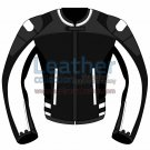 Tri Color Motorbike Leather Jacket For Women