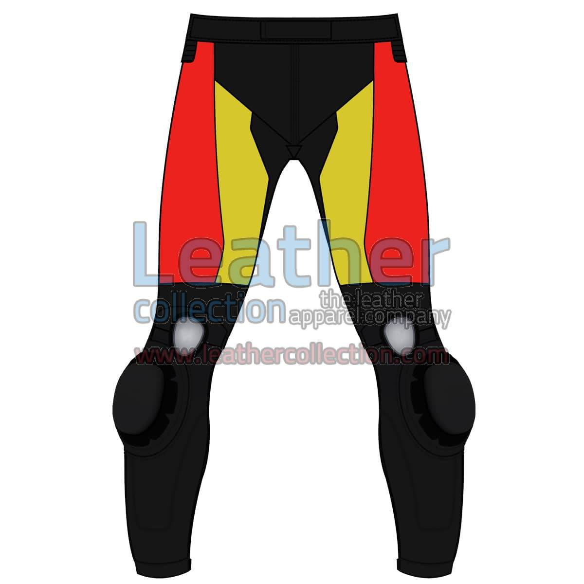 Tri Color Motorbike Leather Pant For Men