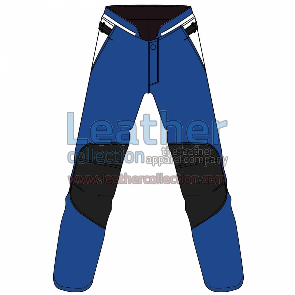 Tri Color Motorbike Leather Pant For Women