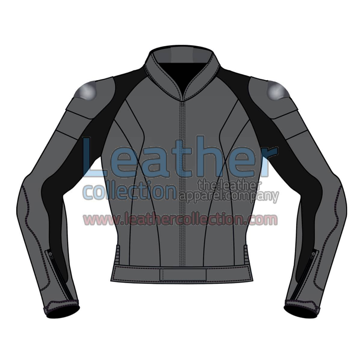 Uni Color Motorbike Leather Jacket For Men