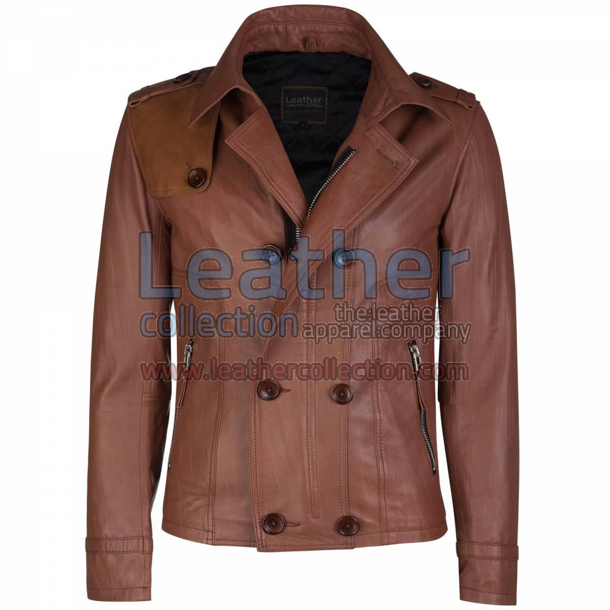 Unique Brown Leather Jacket
