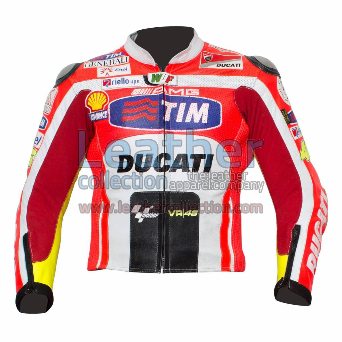 Valentino Rossi Ducati 2011 Leather Jacket