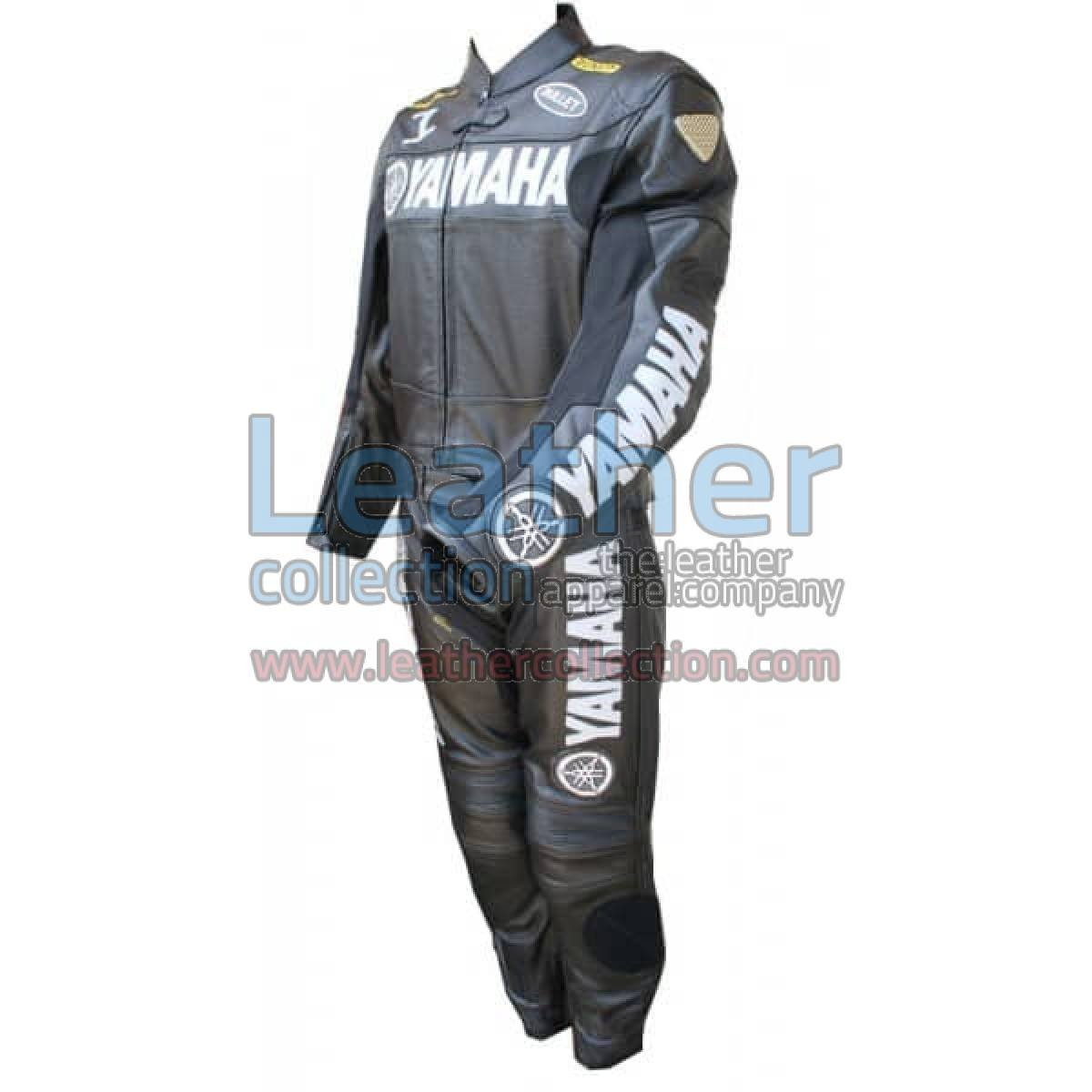 Yamaha Motorbike Leather Suit Black