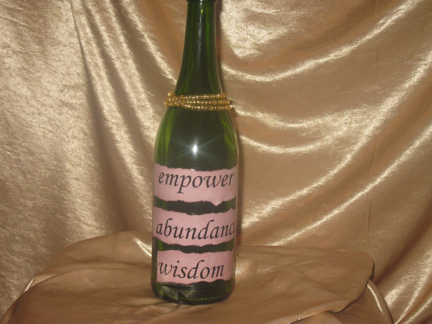Quote Bottle: Incense Holder