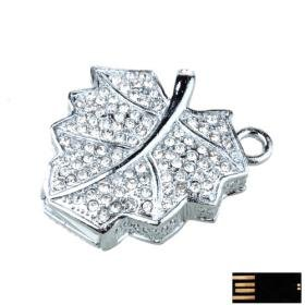 Glowing Maple Leaf Jewelry USB Flash Drive(8GB)