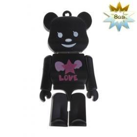 Black Bear Shaped USB 2.0 Flash/Jump Drive (8GB)