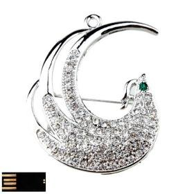 Steering Silver Phoenix Jewelry USB Flash Drive(8GB)