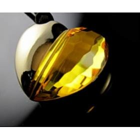Crystal Heart Yellow USB Drive 8G