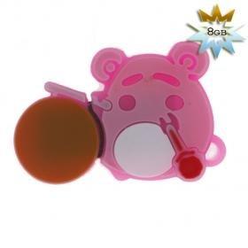 Cute Bear USB 2.0 Flash/Jump Drive (8GB) - Pink