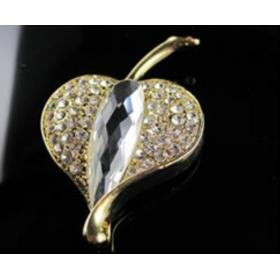 Crystal Leaf Golden USB Drive 8G